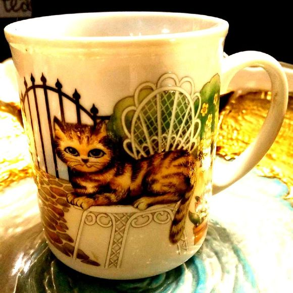 Vintage Other - Kitty CAT COFFEE Mug~CUP!¡!!